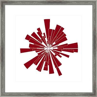 Red Shape Framed Print by Frank Tschakert