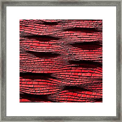 Red Shingles Framed Print by Art Block Collections