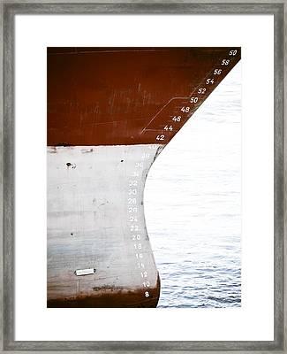 Red Ship Framed Print by Frank Tschakert