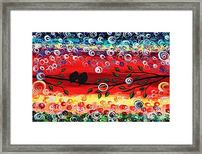 Red Skies Framed Print by Mariana Stauffer