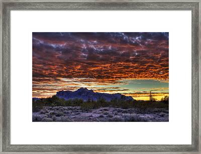 Red Skies Sunrise  Framed Print by Saija  Lehtonen
