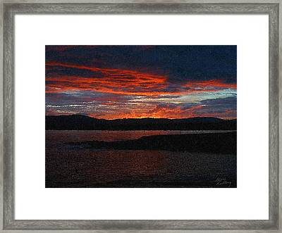 Red Sky At Night Framed Print by Bruce Nutting