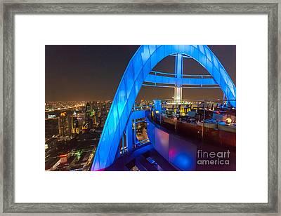 Red Sky Bar In Bangkok Thaila Framed Print by Fototrav Print