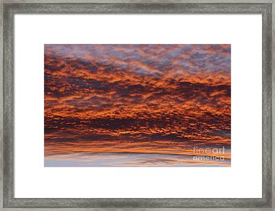 Red Sky Framed Print by Michal Boubin