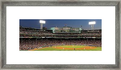 Red Sox And Fenway Park  Framed Print by Juergen Roth