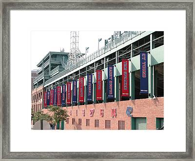 Red Sox Heroes Framed Print by Sue  Thomson