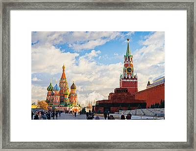 Red Square Of Moscow - Featured 3 Framed Print by Alexander Senin