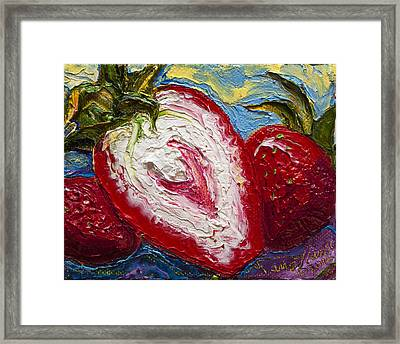 Red Strawberries Framed Print by Paris Wyatt Llanso