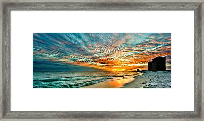 Red Sunset Framed Print by Eszra Tanner