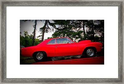 Red Super Charged Framed Print by Patricia Januszkiewicz