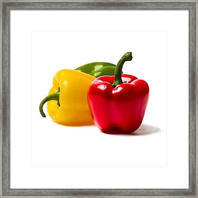 Red Sweet Pepper - Square Framed Print by Alexander Senin