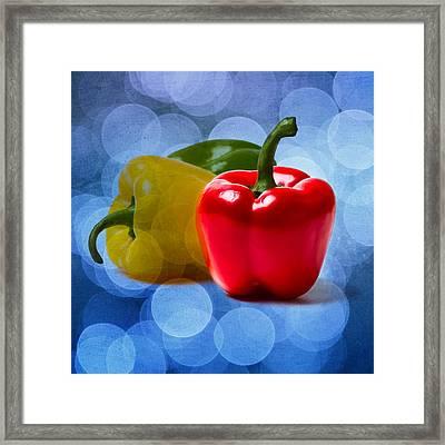 Red Sweet Pepper - Square - Textured Framed Print by Alexander Senin