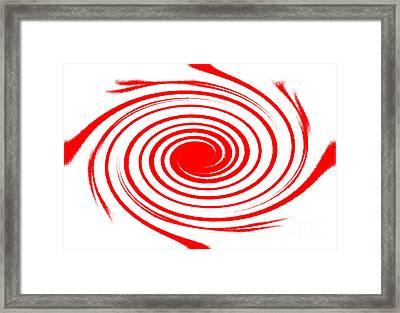Red Swirl War  Framed Print by Lali Kacharava