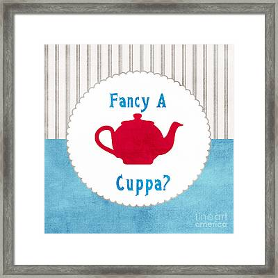 Red Teapot Framed Print by Linda Woods