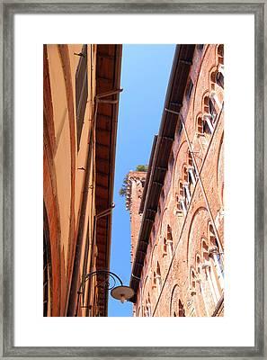 Red Terracotta Framed Print by Valentino Visentini