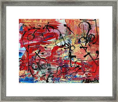 Divertimento No.20 - Red Texas Framed Print by Alexandra Jordankova