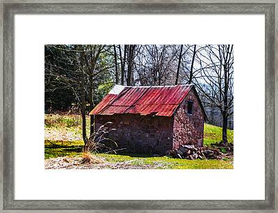 Red Tin Roof Framed Print by Bill Cannon