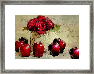Red To Red Framed Print by Diana Angstadt