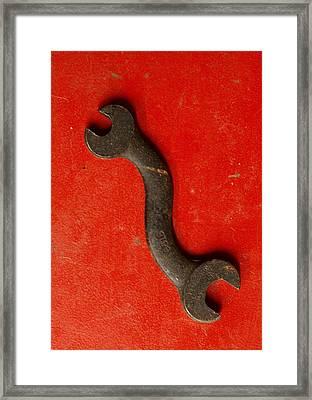 Red  Framed Print by Tom Druin