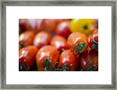 Red Tomatoes At The Market Framed Print by Heather Applegate