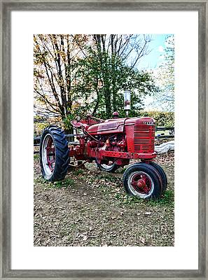 Red Tractor 1 Framed Print by Paul Ward