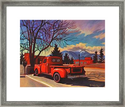 Red Truck Framed Print by Art James West