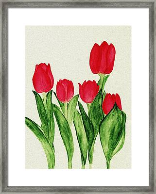 Red Tulips Framed Print by Anastasiya Malakhova