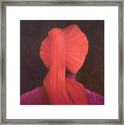 Red Turban In Shadow Framed Print by Lincoln Seligman