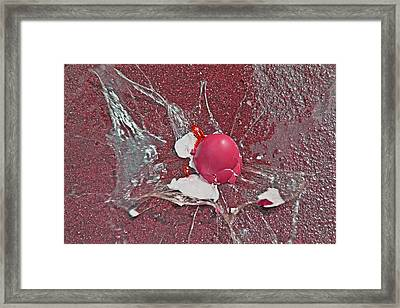 Red Velocity  Framed Print by Betsy C Knapp