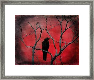 Red Velvet Framed Print by Gothicrow Images