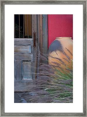 Red Wall Framed Print by CJ Middendorf