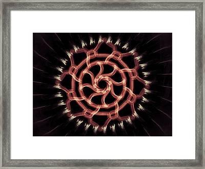 Red Wheel Framed Print by Michael Jordan