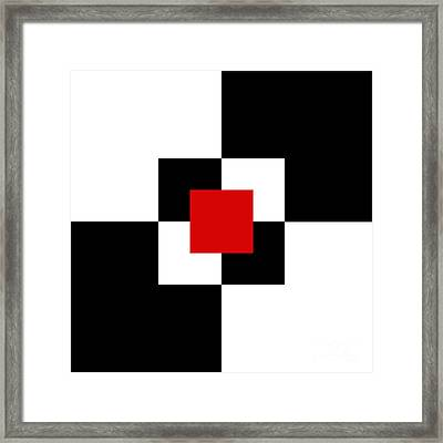 Red White And Black 1 Square Framed Print by Andee Design