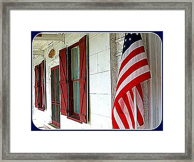 Red White And Blue Framed Print by Dorothy Menera
