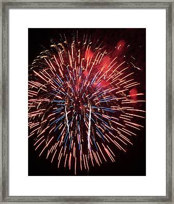 Red White And Blue Framed Print by Harold Rau