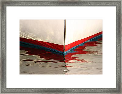 Red White And Blue Framed Print by Juergen Roth