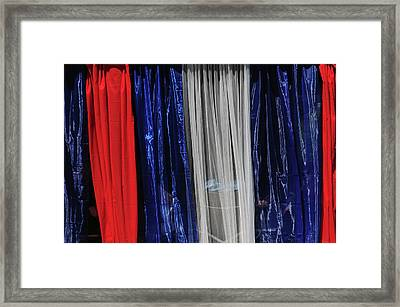 Red, White, And Blue July 4th Framed Print by Michel Hersen
