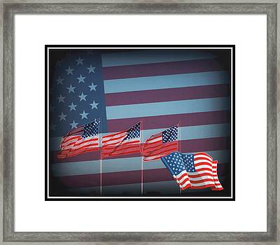 Red White And Blue Framed Print by Kay Novy
