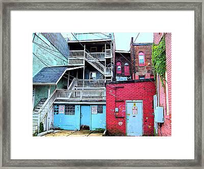Red White And Blue Framed Print by MJ Olsen