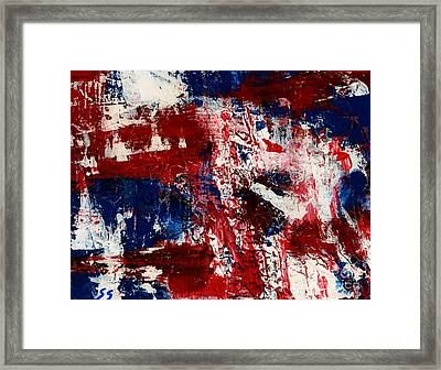 Red White And Blue Framed Print by Susan Sadoury