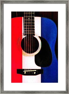 Red White And Blues Framed Print by Bill Cannon
