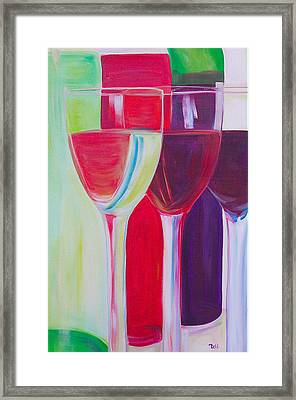 Red White And Blush Framed Print by Debi Starr