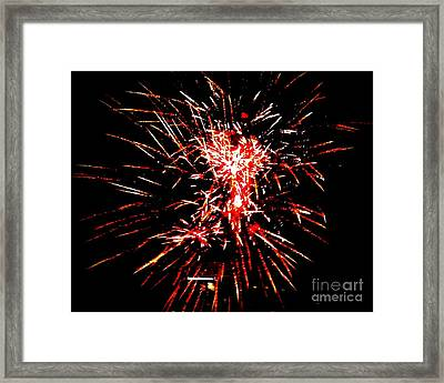 Red White Framed Print by Shelia Kempf