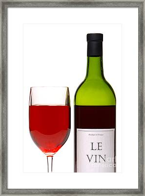Red Wine And Bottle Framed Print by Olivier Le Queinec