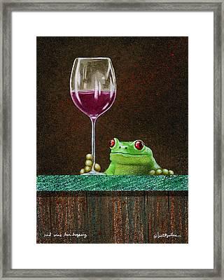 Red Wine Bar Hopping... Framed Print by Will Bullas