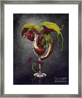 Red Wine Dragon Framed Print by Stanley Morrison