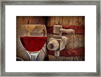 Red Wine With Tapped Keg Framed Print by Tom Mc Nemar