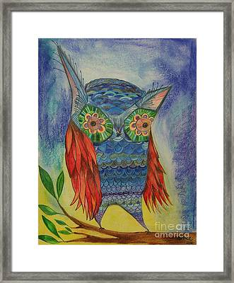 Red Wing Framed Print by Aimee Vance
