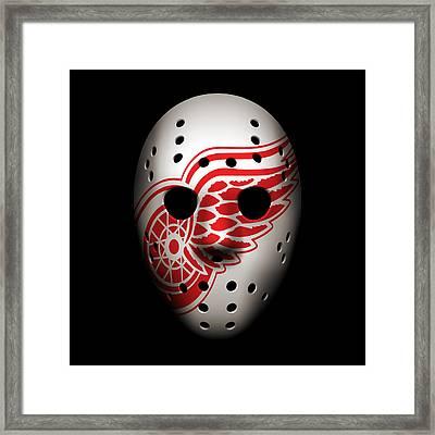 Red Wings Goalie Mask Framed Print by Joe Hamilton