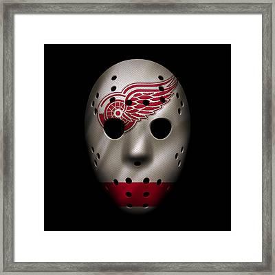 Red Wings Jersey Mask Framed Print by Joe Hamilton